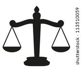 scales of justice | Shutterstock .eps vector #113510059