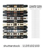 old and dirty audio cassettes... | Shutterstock . vector #1135102103