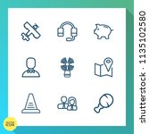 modern  simple vector icon set... | Shutterstock .eps vector #1135102580