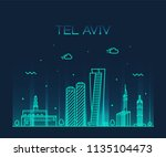 Tel Aviv Skyline  Israel....