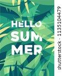 hello summer poster  summer... | Shutterstock .eps vector #1135104479
