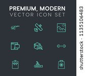 modern  simple vector icon set... | Shutterstock .eps vector #1135106483
