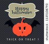 happy halloween background ...   Shutterstock .eps vector #1135108793