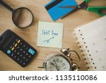 debt free from credit card... | Shutterstock . vector #1135110086