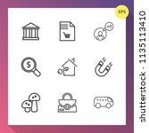 modern  simple vector icon set... | Shutterstock .eps vector #1135113410