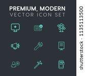 modern  simple vector icon set...   Shutterstock .eps vector #1135113500