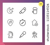 modern  simple vector icon set...   Shutterstock .eps vector #1135114526