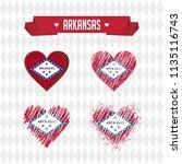 arkansas with love. design... | Shutterstock .eps vector #1135116743
