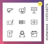 modern  simple vector icon set... | Shutterstock .eps vector #1135118276
