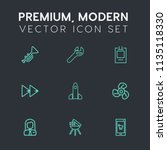 modern  simple vector icon set... | Shutterstock .eps vector #1135118330