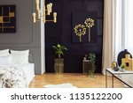 black and gold poster above... | Shutterstock . vector #1135122200
