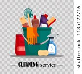 cleaning service. set house... | Shutterstock .eps vector #1135122716