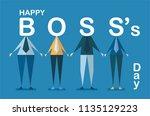 happy boss's day background... | Shutterstock .eps vector #1135129223