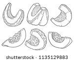 hand drawn illustration of... | Shutterstock .eps vector #1135129883
