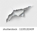 ragged hole torn in ripped... | Shutterstock .eps vector #1135132439