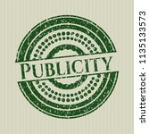 green publicity distressed... | Shutterstock .eps vector #1135133573