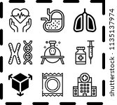 simple 9 icon set of medical... | Shutterstock .eps vector #1135137974