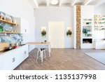 fashionable spacious apartment... | Shutterstock . vector #1135137998
