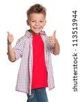 Portrait Of Happy Boy With...