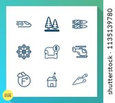 modern  simple vector icon set... | Shutterstock .eps vector #1135139780