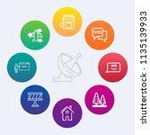 modern  simple vector icon set... | Shutterstock .eps vector #1135139933