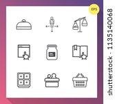 modern  simple vector icon set... | Shutterstock .eps vector #1135140068