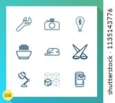modern  simple vector icon set... | Shutterstock .eps vector #1135143776