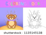 children's coloring book with... | Shutterstock .eps vector #1135145138