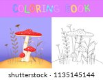children's coloring book with... | Shutterstock .eps vector #1135145144