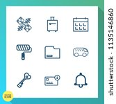 modern  simple vector icon set... | Shutterstock .eps vector #1135146860