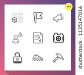 modern  simple vector icon set... | Shutterstock .eps vector #1135147016