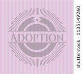 adoption pink emblem. retro | Shutterstock .eps vector #1135149260