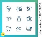 modern  simple vector icon set... | Shutterstock .eps vector #1135150010
