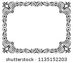 calligraphy penmanship curly... | Shutterstock . vector #1135152203