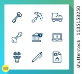 modern  simple vector icon set... | Shutterstock .eps vector #1135153250