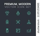 modern  simple vector icon set... | Shutterstock .eps vector #1135153400