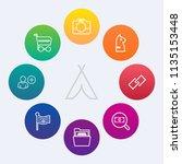 modern  simple vector icon set... | Shutterstock .eps vector #1135153448