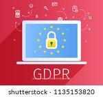 concept of general data... | Shutterstock .eps vector #1135153820