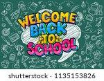 concept of education. school... | Shutterstock .eps vector #1135153826