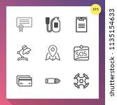 modern  simple vector icon set... | Shutterstock .eps vector #1135154633
