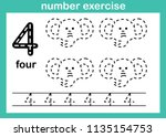 number exercise illustration... | Shutterstock .eps vector #1135154753