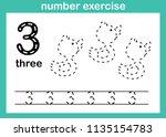 number exercise illustration... | Shutterstock .eps vector #1135154783