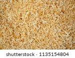 fresh sawdust texture. shavings ... | Shutterstock . vector #1135154804