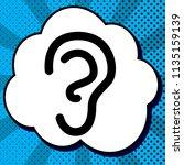 human anatomy. ear sign. vector.... | Shutterstock .eps vector #1135159139
