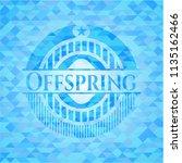 offspring sky blue emblem with...   Shutterstock .eps vector #1135162466