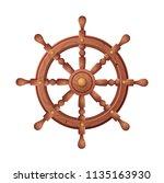 wheel for ship vector cartoon... | Shutterstock .eps vector #1135163930