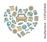 vector car service and auto... | Shutterstock .eps vector #1135165664