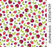 fruit seamless pattern with... | Shutterstock .eps vector #1135167659