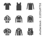 top apparel silhouette icon | Shutterstock .eps vector #1135169753