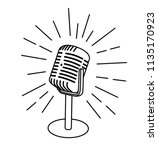 old vintage microphone icon... | Shutterstock .eps vector #1135170923